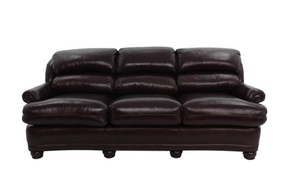 the Hancock & Moore  transitional Austin living room leather upholstered sofa is available in Edmonton at McElherans Furniture + Design