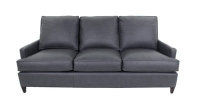 the Hancock & Moore  transitional Ricki living room leather upholstered sofa is available in Edmonton at McElherans Furniture + Design