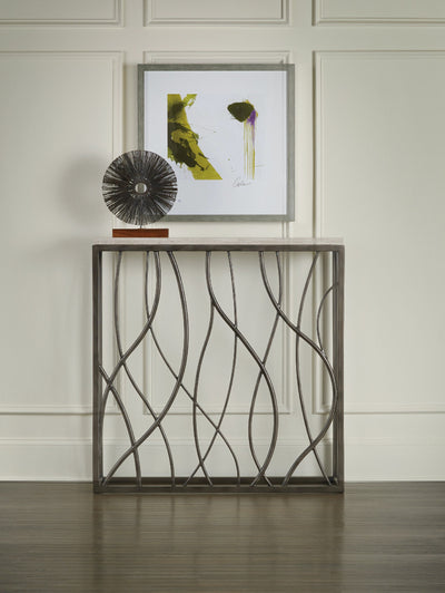 the Hooker Furniture  transitional 5373-85001 living room occasional console table is available in Edmonton at McElherans Furniture + Design