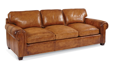 the Whittemore Sherrill  classic 464-03 living room leather upholstered sofa is available in Edmonton at McElherans Furniture + Design