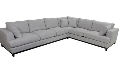 the Marcantonio  transitional Alberto living room upholstered sectional is available in Edmonton at McElherans Furniture + Design