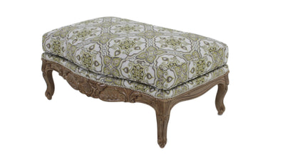 the Sherrill Furniture  classic 1183 living room upholstered ottoman is available in Edmonton at McElherans Furniture + Design