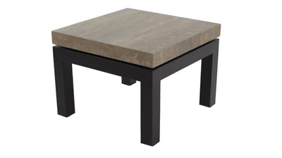 the Stone International  contemporary  living room occasional end table is available in Edmonton at McElherans Furniture + Design
