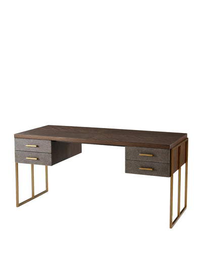 the Theodore Alexander  transitional TAS71008 home office desk is available in Edmonton at McElherans Furniture + Design