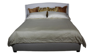 the Chloe bedroom bed coverings is available in Edmonton at McElherans Furniture + Design