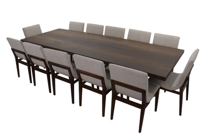the Nexo 13 Piece Dining Room is available in Edmonton at McElherans Furniture + Design