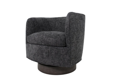 the Thayer Coggin  contemporary Roxy Would living room upholstered swivel chair is available in Edmonton at McElherans Furniture + Design
