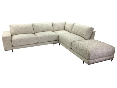 the Thayer Coggin  contemporary Hangover living room upholstered sectional is available in Edmonton at McElherans Furniture + Design