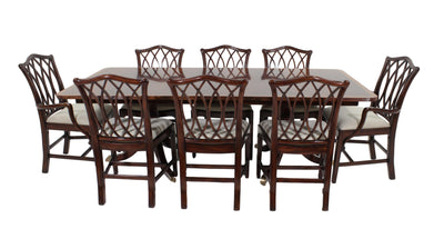 the 9 Piece Dining Room Package is available in Edmonton at McElherans Furniture + Design
