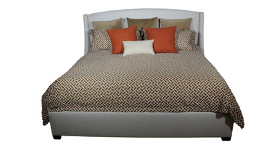 the Wyatt bedroom bed coverings is available in Edmonton at McElherans Furniture + Design