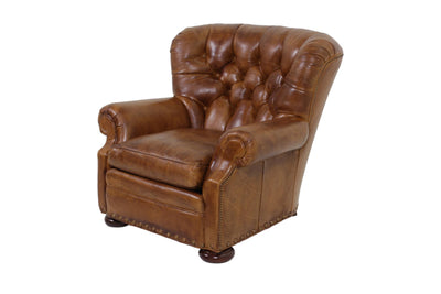 the Whittemore Sherrill  classic / traditional 299-01 living room leather upholstered chair is available in Edmonton at McElherans Furniture + Design