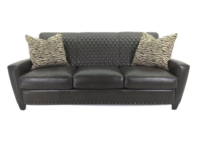 the Hancock & Moore   6165-3 living room leather upholstered sofa is available in Edmonton at McElherans Furniture + Design