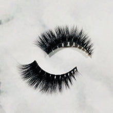Load image into Gallery viewer, Belize Eyelashes. Natural beauty & makeup enhancer. Fluffy, full, long length false lashes. Quick & easy. Eyelash extension alternative.