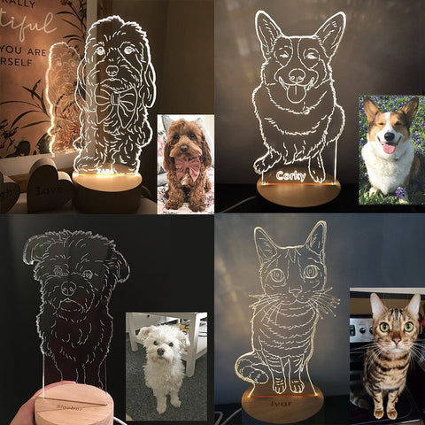 Custom Pet LED Table Lamp - GoMine