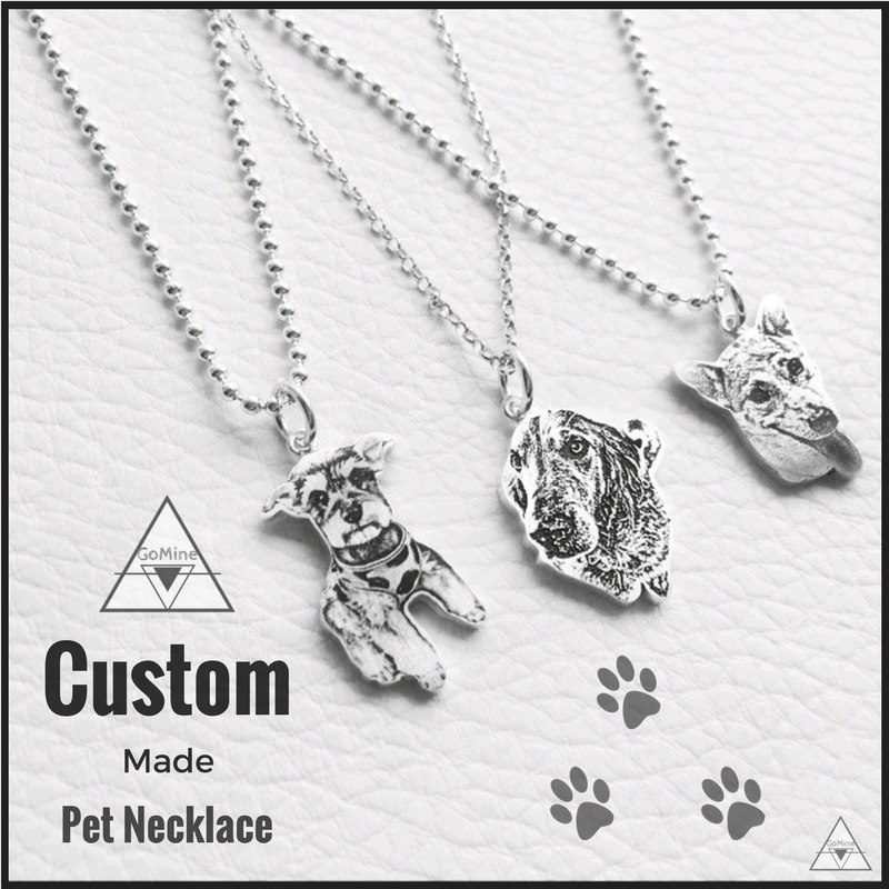 Custom Made Pet Memorial Necklace Jewelry