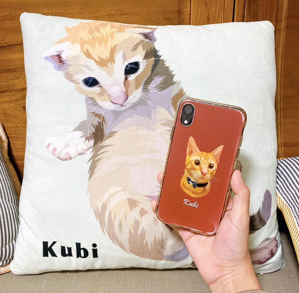 Custom Cat Portrait Phone Case - GoMine