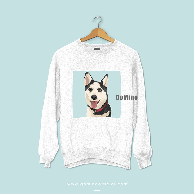 Custom Pet Portrait Sweaters (White) - GoMine