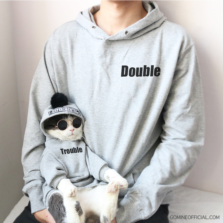 custom matching pet and owner hoodie