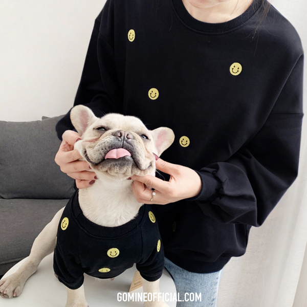 Matching Dog and Owner Sweater - Smiley Face - GoMine