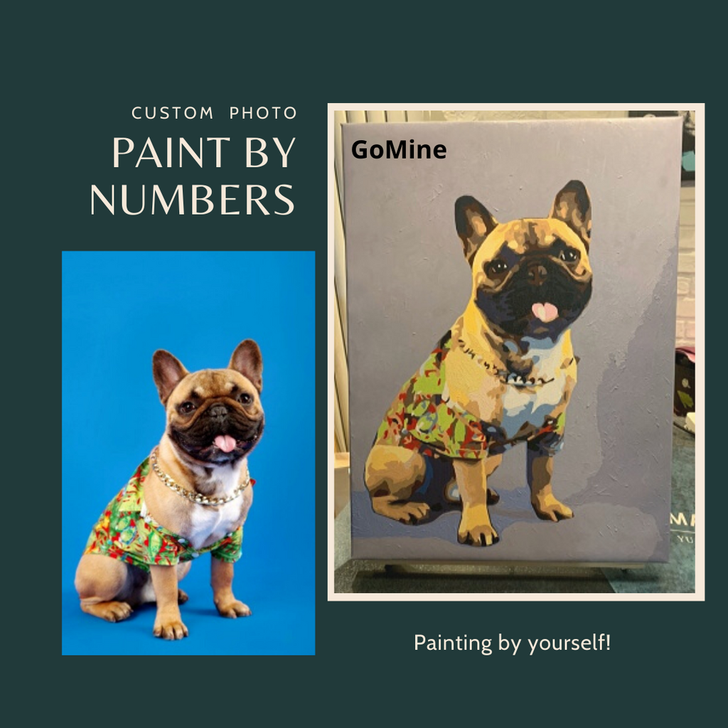 Custom Pet Painting by Numbers Kit - GoMine