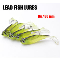 5Pcs/Lot 3D Eyes Lead Fishing Lures