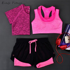 3 Pieces Women Fitness Yoga Set