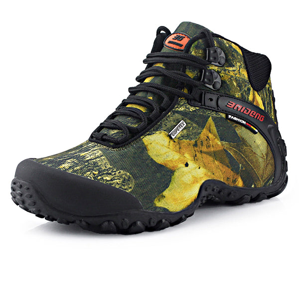 Waterproof Canvas Men Hiking Shoes
