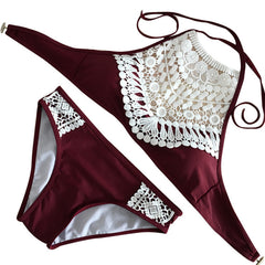 European Style Sexy Hollow Out Bikini Set