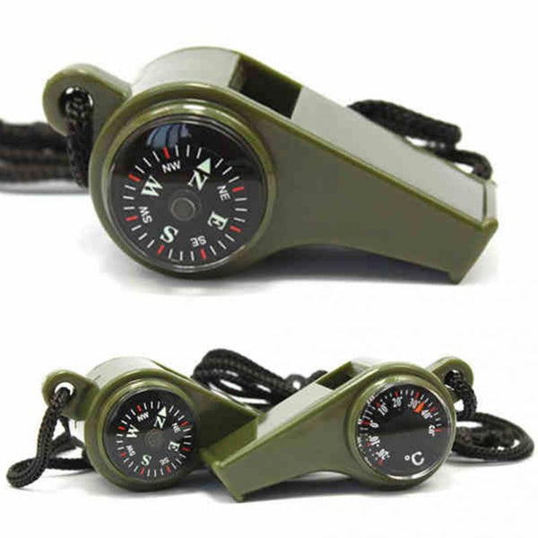 3 In 1 Whistle Compass Thermometer