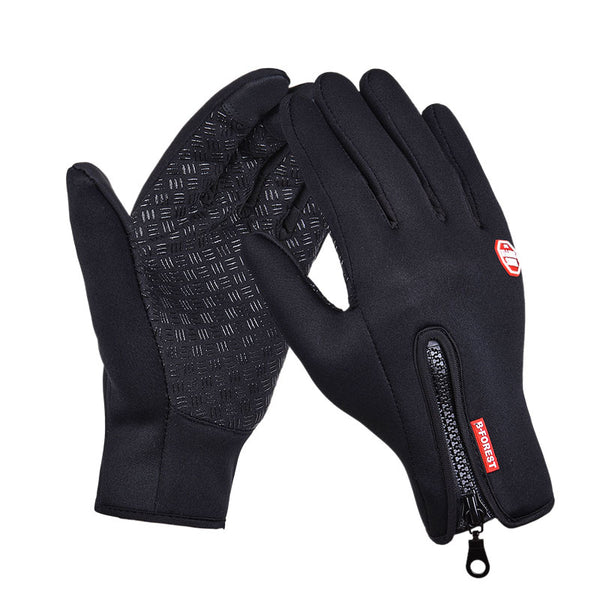 Simulated Leather Soft  Warm Sports Gloves