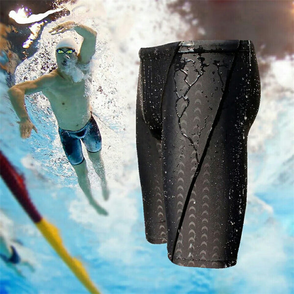 water repellent men's long swimming shorts