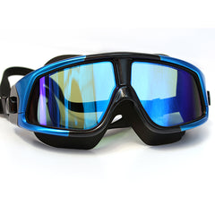 Comfortable Silicone Large Frame Swim Glasses