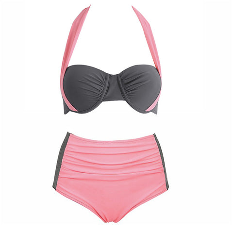 Sexy High Waist Halter Push-up Swimwear
