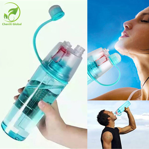 New Sports Spray Water Bottles