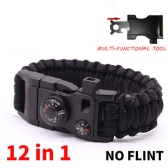 12 in 1 Multi-function Survival Bracelet