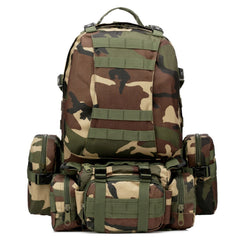 55L 600D Nylon Military Tactical Backpack
