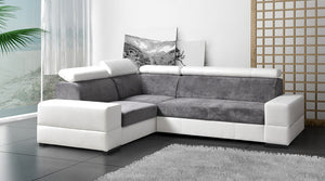 Duke 4 Seat Corner fabric & leatherette sofa bangalore