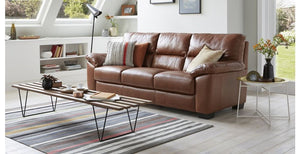 Dalmore 3 seater leatherette sofa banglore furniture manufacture bangalore