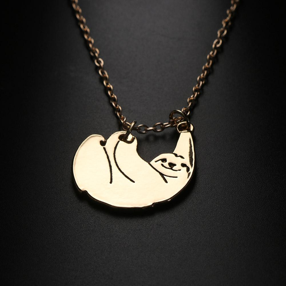 sloth pendant s silver toco a necklace sloths cc co pink d angels golden product capture minimalist