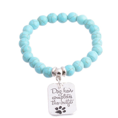 Silver Plated Dog Paw Charm Bracelet For Women-Charm Bracelets-DogBlabShop