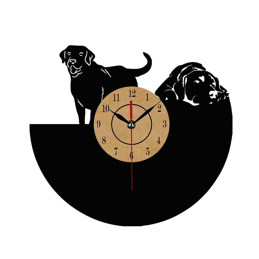 Dog Vinyl Record Wall Clock