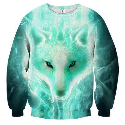 3D Enchanting Wolf-Dog Sweatshirt
