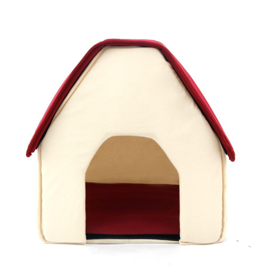House-Shaped Soft Dog House For Cats And Small Dogs