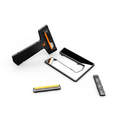"""Carzor"" Ultra Thin Portable Card Shaver with Mirror"
