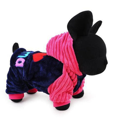 I Love Papa and I Love Mama Winter Dog Clothing For Small And Large Dogs-Dog Coats & Jackets-DogBlabShop
