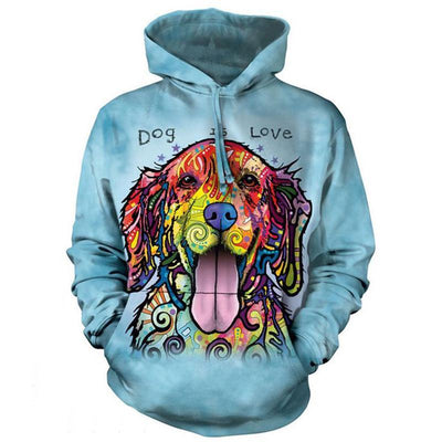 Dog's Love Colorful Labrador  Hoodie Sweatshirt - DogBlabShop