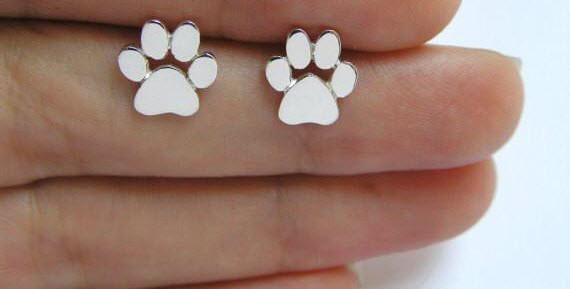 Cute Paw Print Earrings for Women