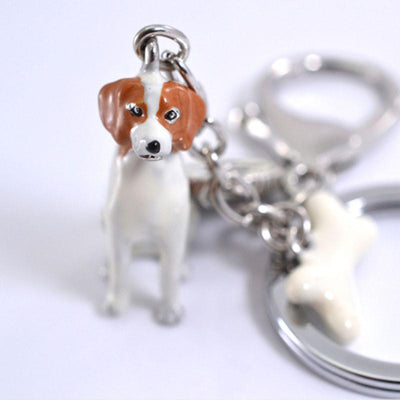 3D Dog Keychains Hand-Painted And Beautiful Metal Car Key Chains - DogBlabShop