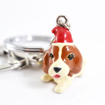 3D Dog Keychains Hand-Painted And Beautiful Metal Car Key Chains