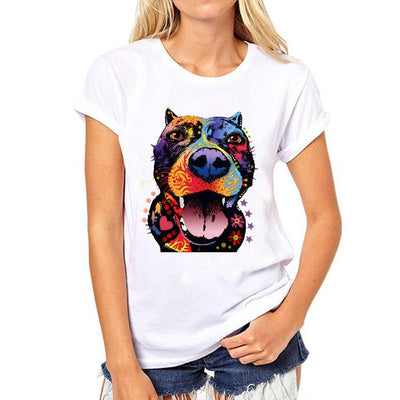 3D Pitbull T-shirt for Women - DogBlabShop